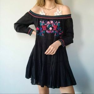Free People embroidered ruffle oversized dress